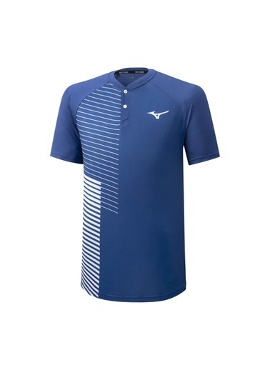Mizuno Shadow Polo Erkek T-shirt Mavi/Beyaz Mavi